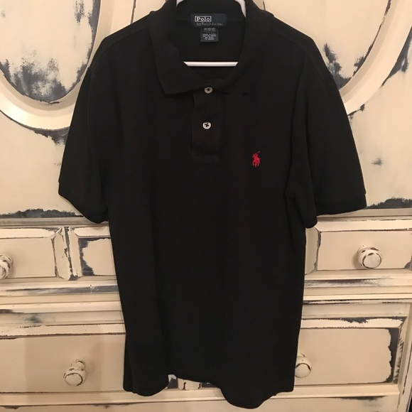 7ff07100435ee2 Polo by Ralph Lauren Shirts & Tops | Black With Red Horse Collared ...